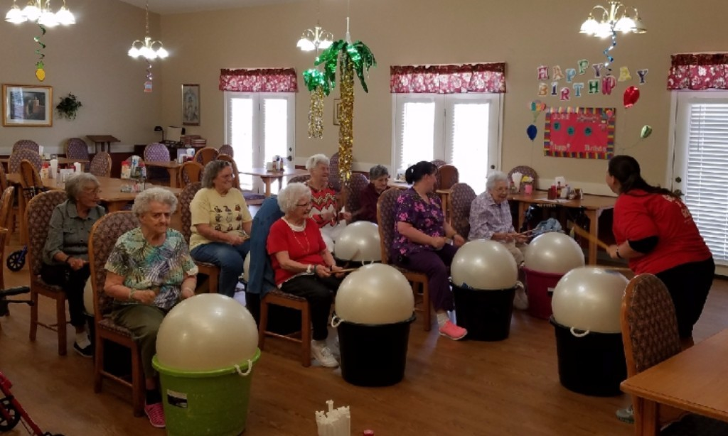 Our residents enjoy the exercise