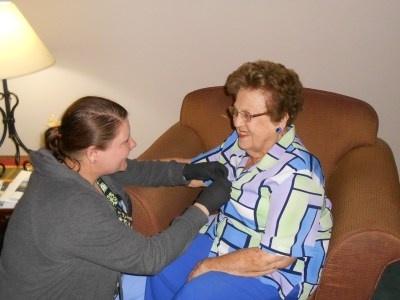 Receiving special assistance and care